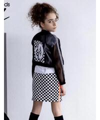 bed94b3aa5e3 All for kids Dievčenský imidžový sieťkový kabátik LOL MM 918 kocka