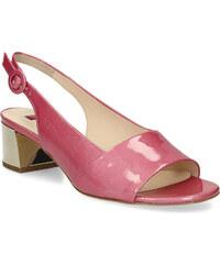 16ba5bde88a1 Hogl Květované lodičky do špičky. Detail produktu. Hogl Růžové sandály na  podpatku z lakované kůže