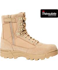 14489d215a BRANDIT BOTY ZIPPER Tactical Boot Camel
