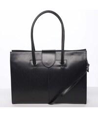 044188dcb8 Elegantný a módne dámska kožená kabelka čierna - ItalY Alison čierna