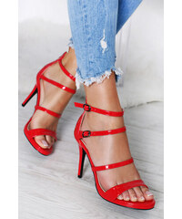 19b7f688e0 Belle Women Červené sandále Fabiola