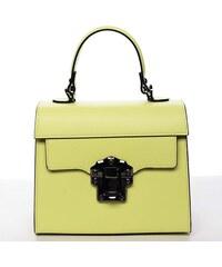 d632574f1a Exkluzívna módna dámska kožená kabelka žltá - ItalY Bianka žltá
