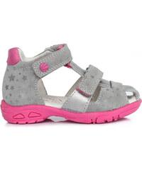a926240ff523 Dievčenské sandále kožené D.D.STEP AC290-7026AM grey