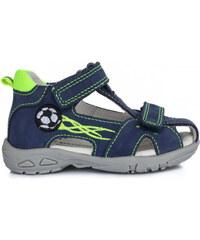ae7e6d978915 Chlapčenské sandále kožené D.D.STEP AC290-7024B royal blue. 27 ...