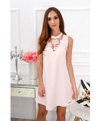 b195c98f0ae8 Bella Donna Púdrové šaty s krajkovým detailom Amalina CO-37548