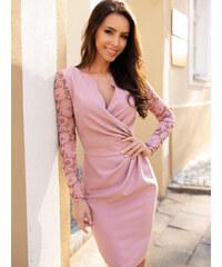 a599116450a6 KARTES MODA šaty dámské KM56K s obálkovým výstřihem