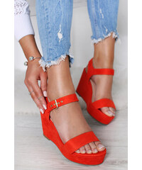 4dc1b950b58c Belle Women Oranžové platformové sandále Kalie