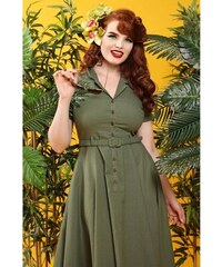 b35619ab80c6 COLLECTIF Dámské retro šaty Caterina zelené
