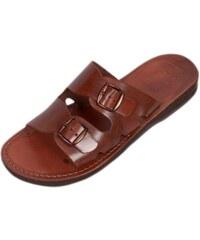 cef62f591057 Faraon-Sandals DAREIOS Uni kožené pantofle 108 Dareios 36