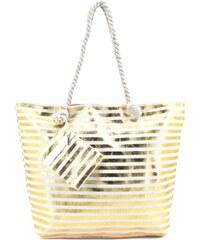 7aa5c82f1f Velká plážová taška - zlatá