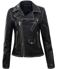 fe22f192fa45 KOKAI New Collection Kožená dámska čierna bunda ESCADA