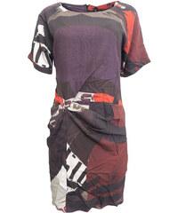 32603caf425e Barevné řasené šaty Desigual