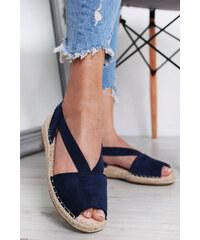 a2f0bd47edc2 Ideal Tmavě modré sandály Salena
