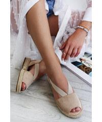 fc06095a923f Béžové Dámske sandále na platforme