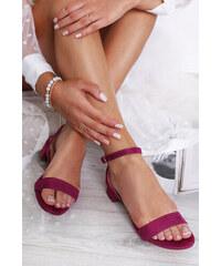 1f0ab0195da5 Moow Bordové sandále Scarlett