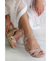 1a605cbdd40d Ideal Ružové platformové sandále Alvira