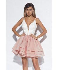 ce6c4fd153f8 Loula Smotanovo-ružové šaty Leara
