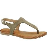 1d96cd6eee9b DOLI-BERRY Pekné olivové sandále viazané stužkou - Glami.sk