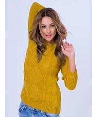 265013b54543 VERSABE Dámský pletený svetr JASMIN v barvě medu