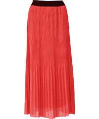 3842915f0d28 MADE IN ITALY Dámská plisovaná maxi sukně korálová UNI