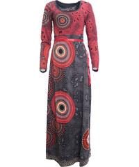 cd7aec9670fa Maxi šaty s dlouhým rukávem Desigual