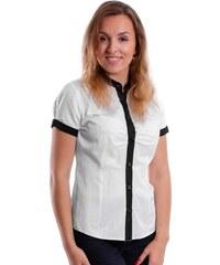 cfa1bb9bece4 VERSABE Bílá dámská košile s mašlí Slim Fit VS-DK1723- tmavě-modrá ...