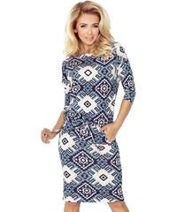 7674c3d15701 ModneVeci Dámske šaty v tmavo modrej farbe AGATA 161-7 - Glami.sk