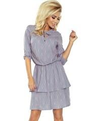 1619cc323389 ModneVeci Šaty s dvojí sukní v šedé barvě 182-2