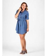 805c0ef9aa60 VERSABE Dámske košeľové šaty VS-DS 1844 svetlo modré
