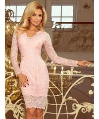 24a4c6963c75 ModneVeci Dámske šaty s dlhým rukávom 170-4 pastelovo ružové
