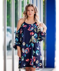 72e149fef690 VERSABE Kvetované šaty na leto VS-SA 1866 oversize