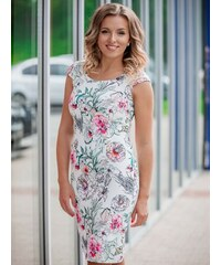 dbe747122963 VERSABE Dámske puzdrové šaty VS-SA-1853 kvetinový vzor