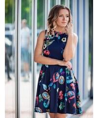 d5d7e2d679fc VERSABE Dámske šaty VS-SA 1862 kvetinový vzor