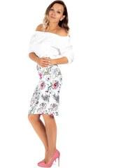 261b3b1a6850 VERSABE Dámska puzdrová sukňa VS-SU-1849 ruže - Glami.sk