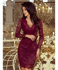 3942047fa0b7 ModneVeci Čipkované dámske šaty 170-5 bordo