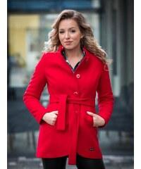 33f58f98c297 VERSABE Luxusný dámsky kabát IGA- červený