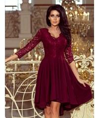 328a3c61c962 ModneVeci Elegantné dámske šaty 210-1 bordo