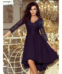 41d7fd5b0e59 ModneVeci Elegantné dámske šaty 210-2 tmavomodré