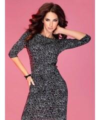 015436d097d2 ModneVeci Športovo-elegantné šaty s lodičkovým výstrihom 13-9 čierne