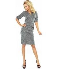 da8dd97eea88 ModneVeci Úpletové dámske šaty 161-4 šedý melír