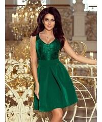 fdfa667a7b91 ModneVeci Elegantné dámske šaty 208-4 smaragdové