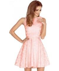 3fc15d02c2ce ModneVeci Broskvové dámské společenské šaty