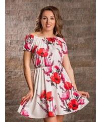 90820b575 ModneVeci VERSABE Dámske šaty na leto VS-SA 1909 makový kvet