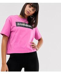 105410e4fbfa Napapijri The Tribe Sait Cropped t-shirt in pink - Pink