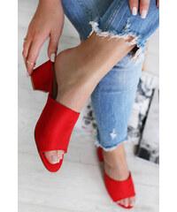 492a42263841 Ideal Červené šľapky Giselle - Glami.sk