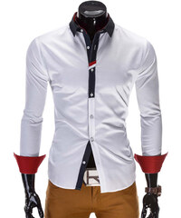 1adc6f941075 Ombre Clothing pánska košeľa Uzziel biela