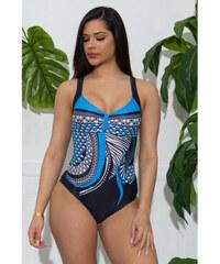 cad053e327f8 Jednodielne farebné plavky s azteckou potlačou LC410785-4