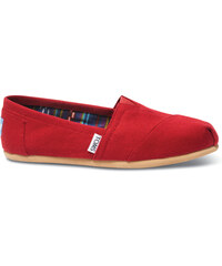 1002bb22e8 Dámske červené TOMS Core Classics Alpargatas