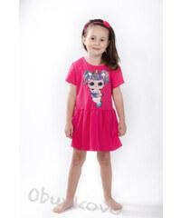 a08e5f372d0b All for kids Dievčenské šaty s volánikom LOL MM 587 lol fuxia