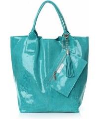 966d269758 Genuine Leather Kožené kabelky Shopper bag Lakované mořská